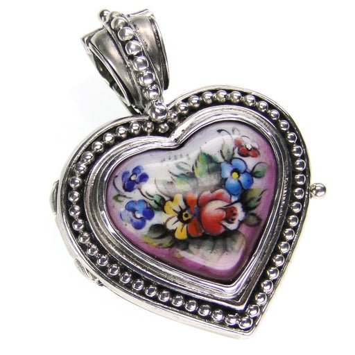 Hand Painted Heart Locket