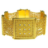 Large Diamond Block Chain Bracelet