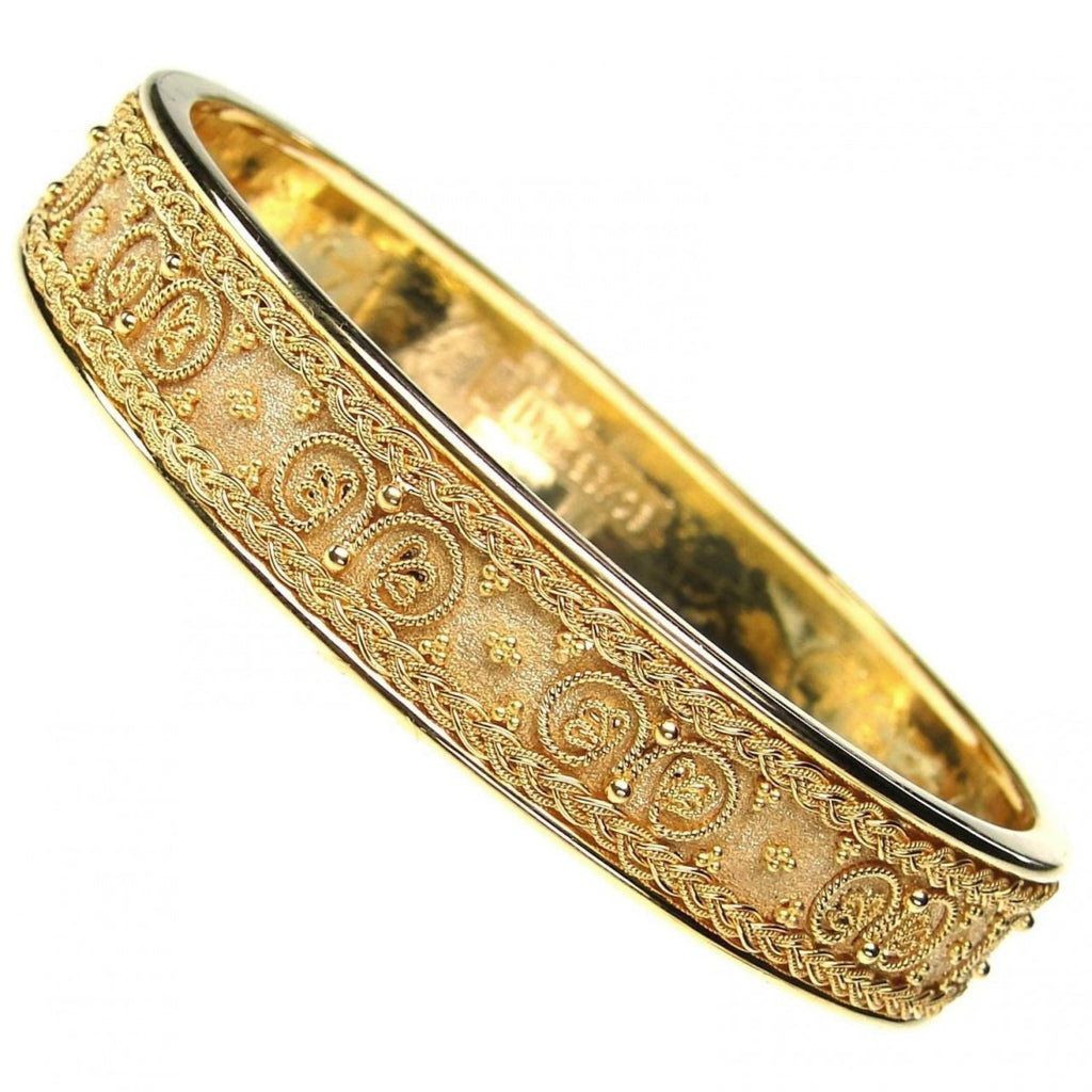 18k Gold Iraklion Bangle Bracelet