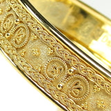 18k Gold Iraklion Bangle Bracelet detailed