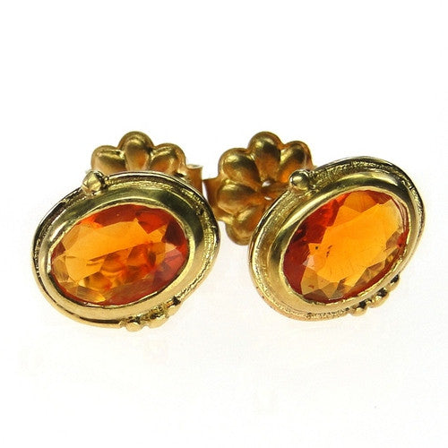 Evangelatos Fire Opal Post Earrings