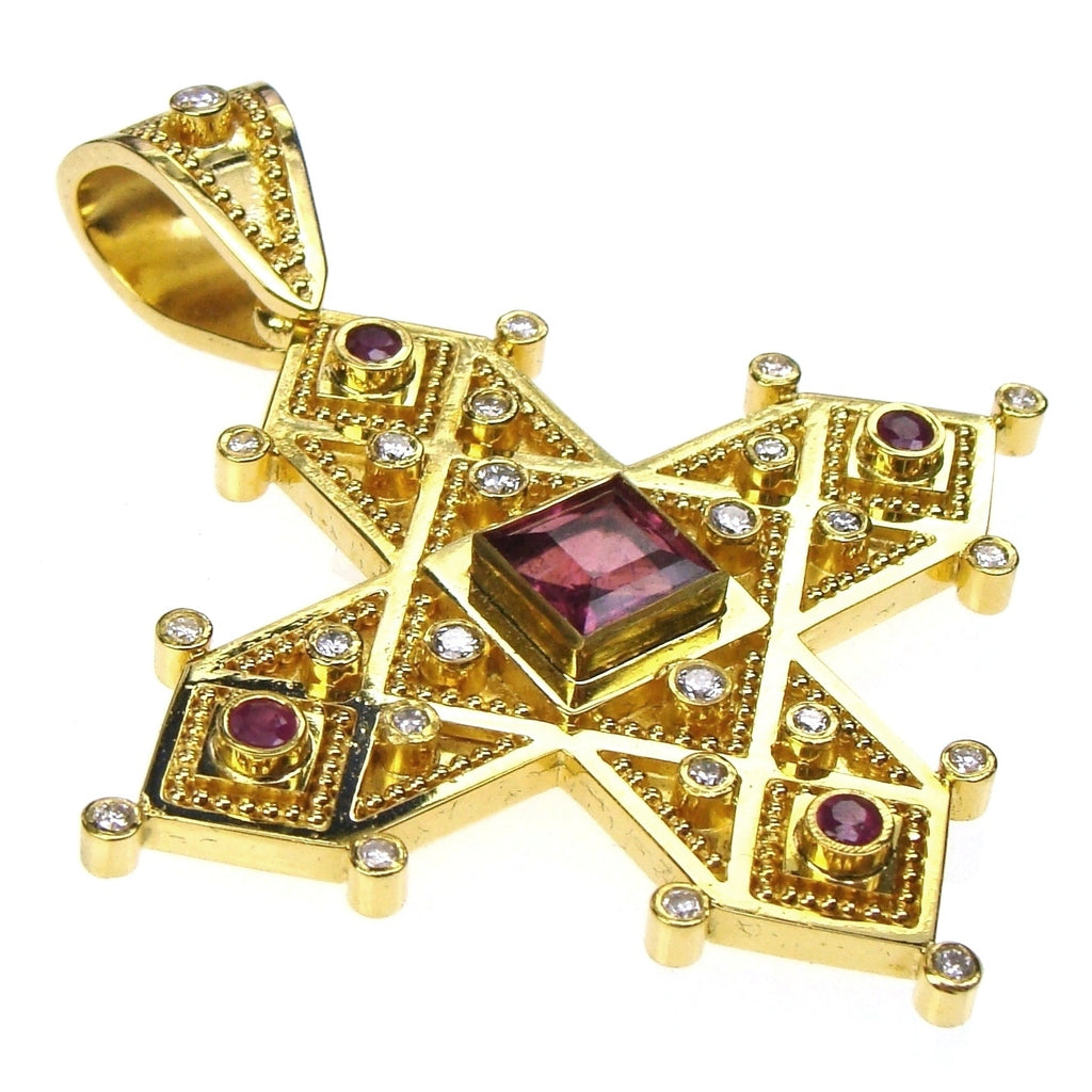 Christianos Cross with Diamonds