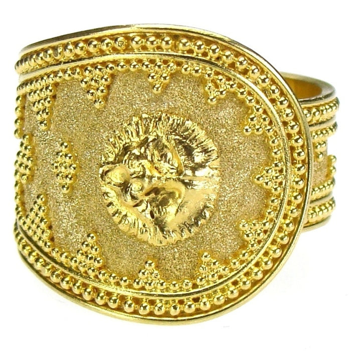 Lion Head Band Ring