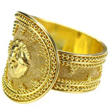 Lion Head Band Ring Side View