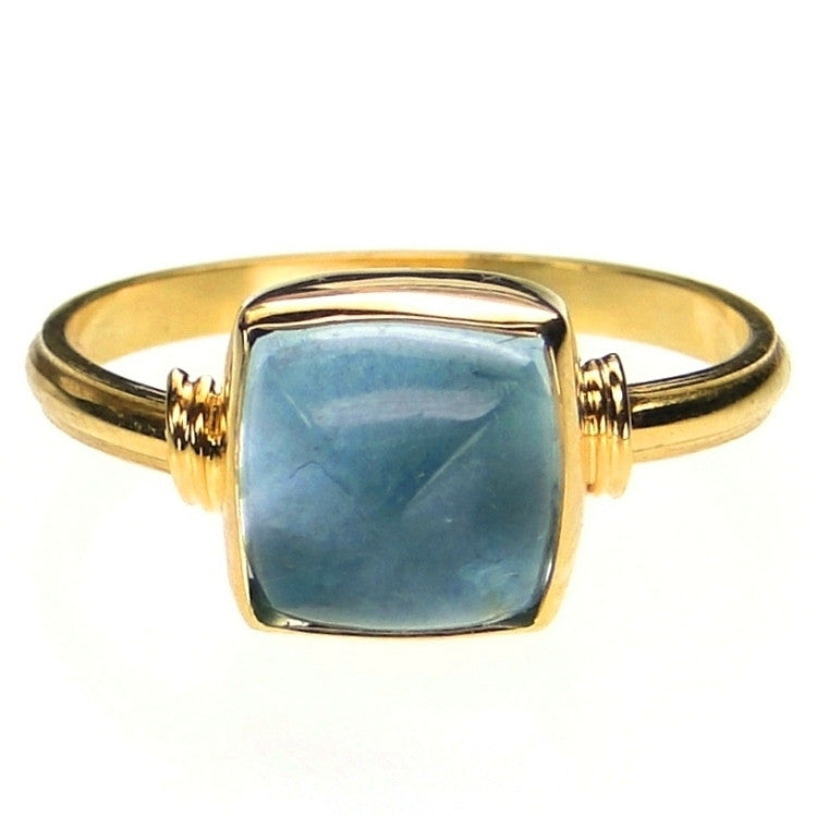Evangelatos Square Aquamarine Ring