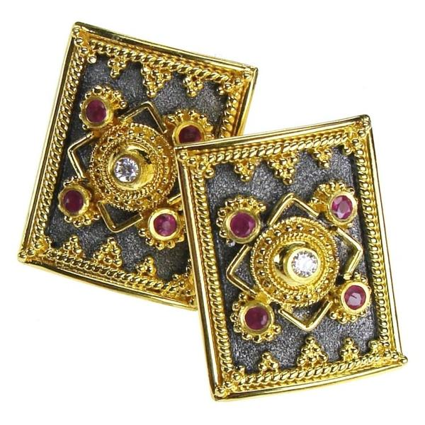 Black Gold Roman Shield Cufflinks