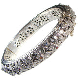Evangelatos Flower Field Gemstone Bangle Bracelet