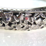 Evangelatos Flower Field Gemstone Bangle Bracelet detailed