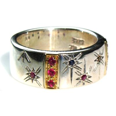 Star Spangled Bar Band Ring