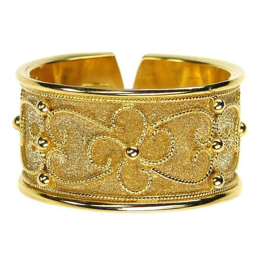 Rope Flower Split Back Band Ring