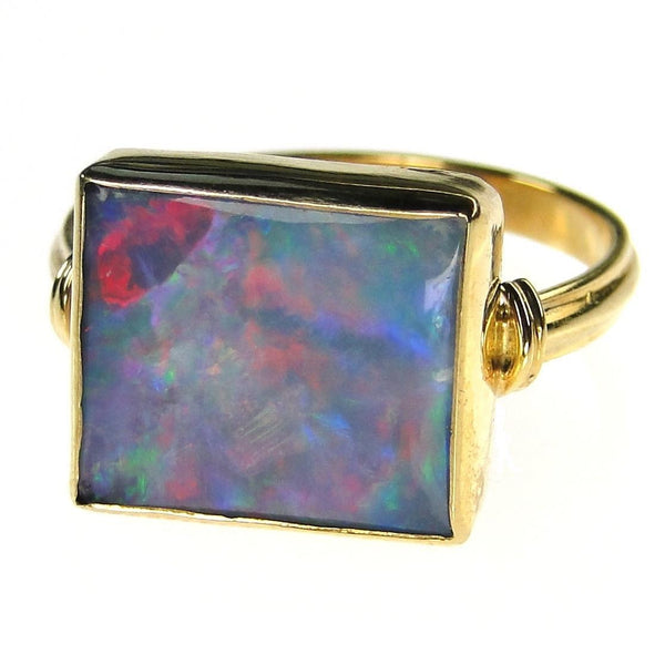 Evangelatos Square Australian Opal Ring