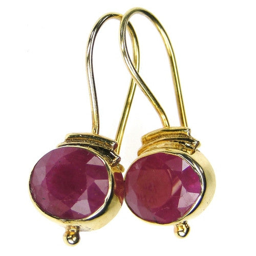 Evangelatos Ruby Wire Earrings