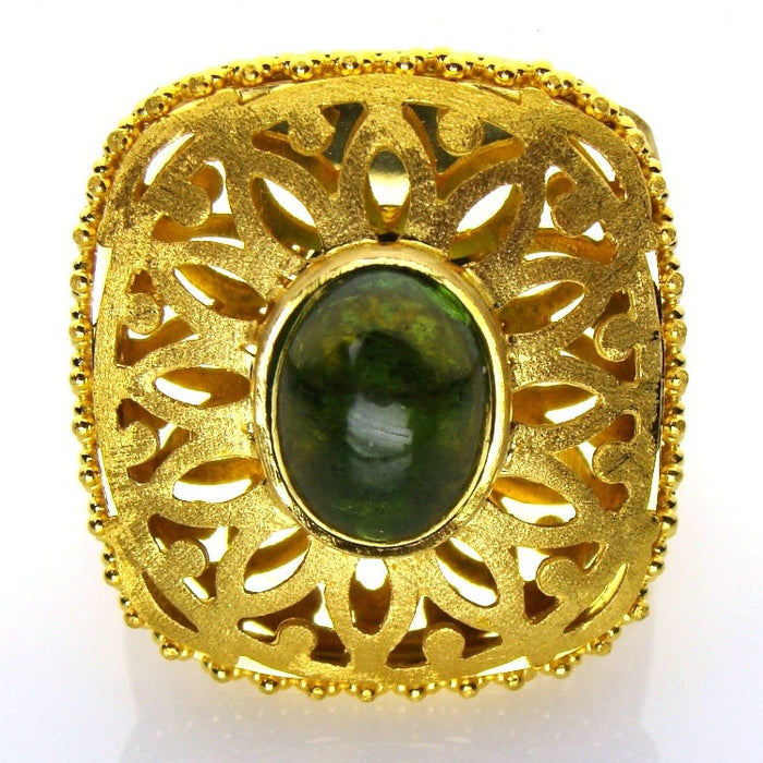 Double Tiered Tourmaline Ring Front View