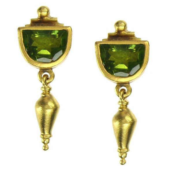 Evangelatos Classical Peridot Earrings