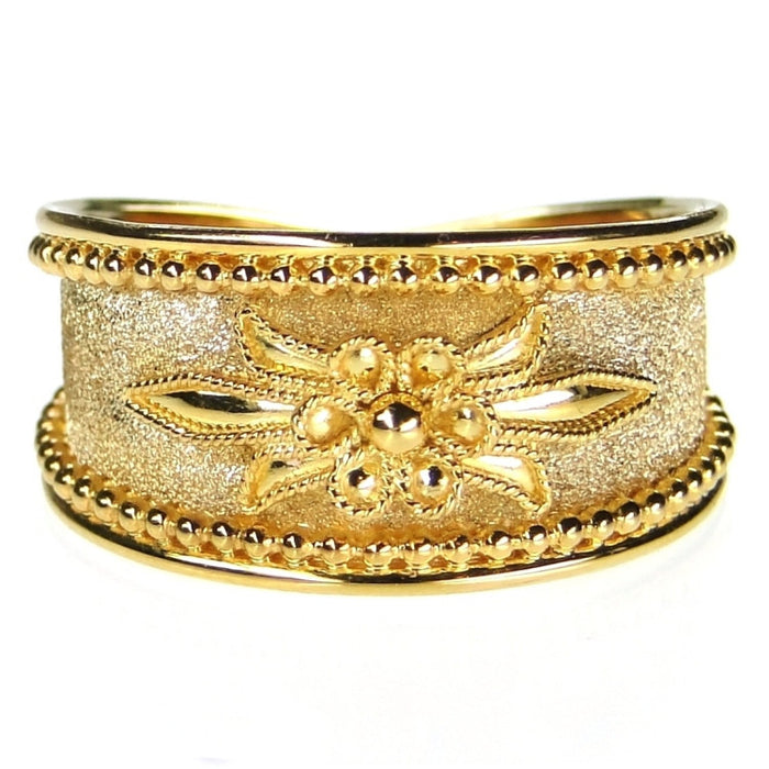 Anthemion Flower Band Ring