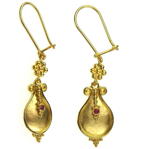 18k Ruby Drop Earrings