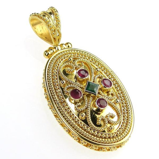 Iraklion Oval Pendant