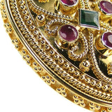 18k Gold Ruby and Emerald Iraklion Pendant