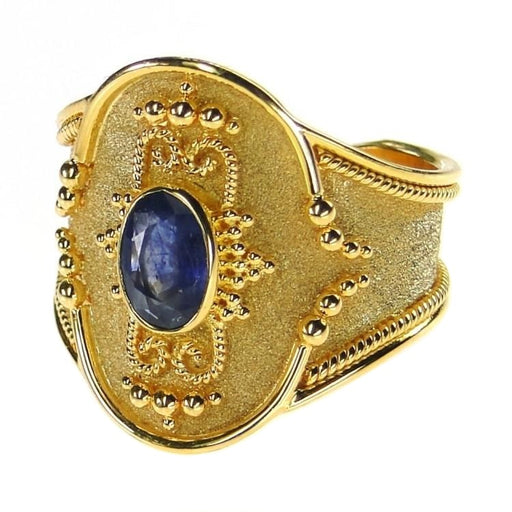 Broad Martile Sapphire Ring