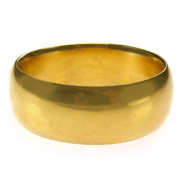 Glossy 24k Gold Wide Band Ring