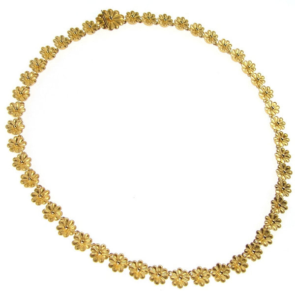 18k Gold Rosette Necklace
