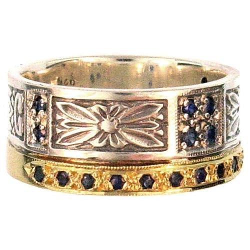 Evangelatos Anthemion Gold Band Ring