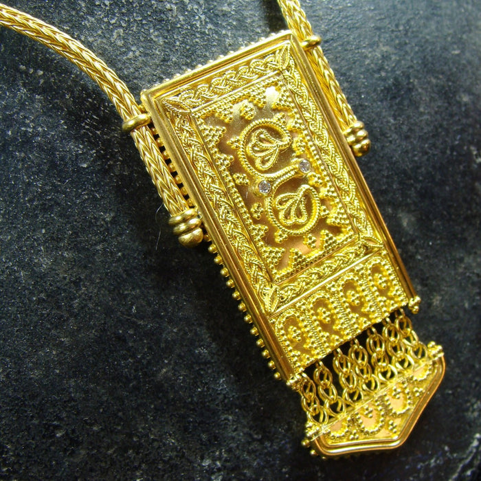 18k Gold Iraklion Panel Necklace