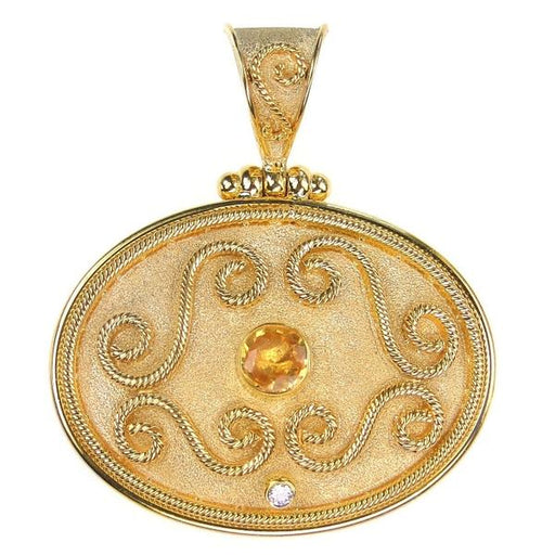 Single Stone Grand Medallion