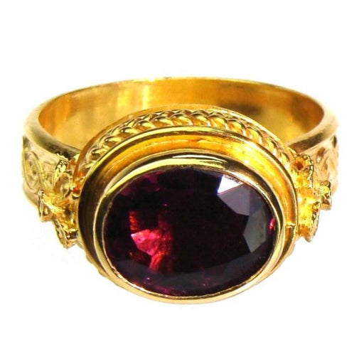 Evangelatos 22k Rubelite Classical Ring