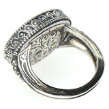 Garden Shadows Scroll Side Oval Ring