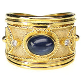 Sapphire and Diamond Ring Front View