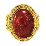 Damaskos Cerberos Hand Carved Intaglio Ring