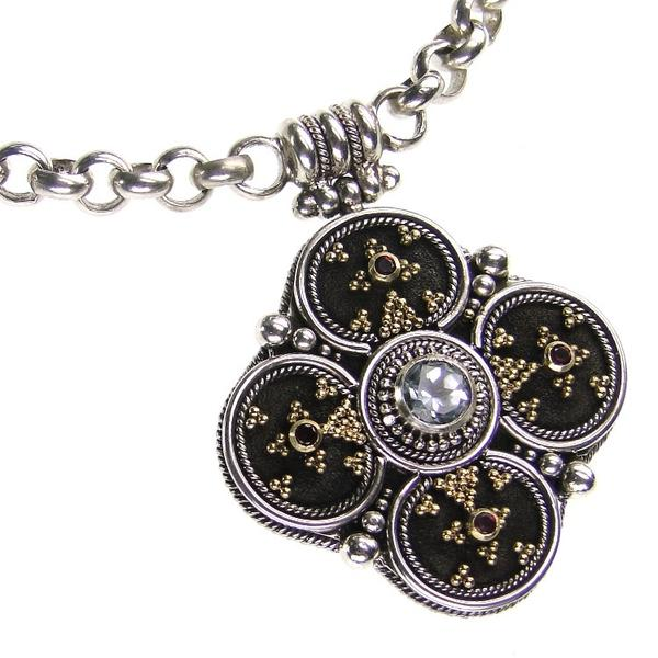 Silver Clover Necklace with Pendant
