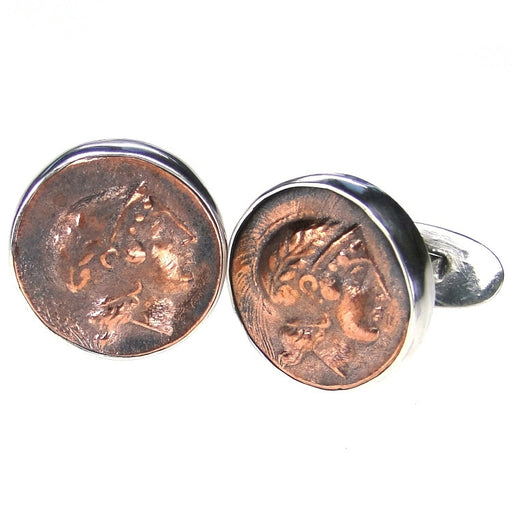 Evangelatos Hector Coin Cuff Links