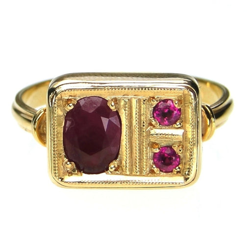 Evangelatos Ruby Mixed Stone Panel Ring