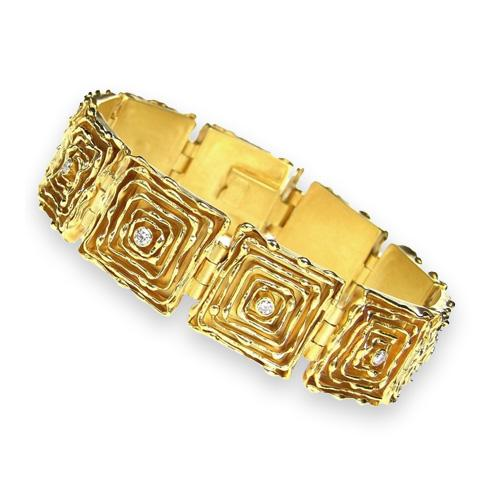 18k Gold Bracelet - The Melting Walls™ Collection by Damaskos