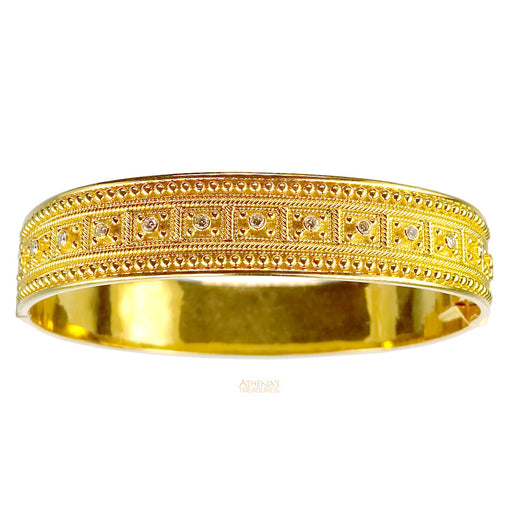 Diamond Block Bangle Bracelet