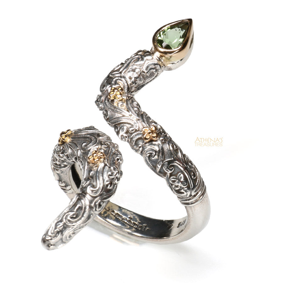 Floral Serpent Ring