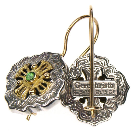 Gerochristo Filigree Maltese Cross Earrings