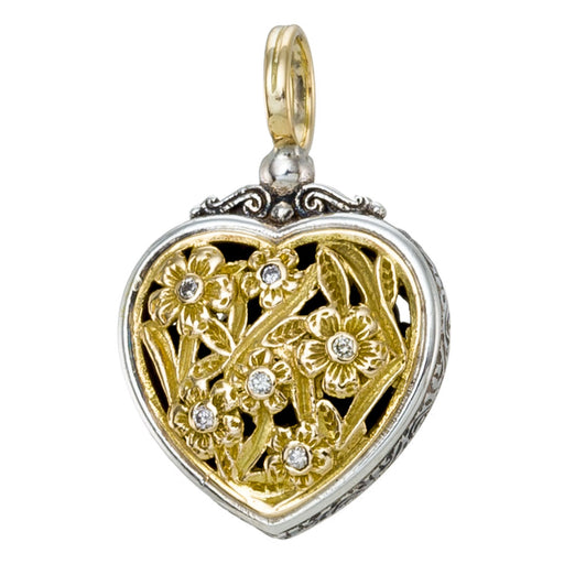 Garden Shadows Diamond Heart Pendant