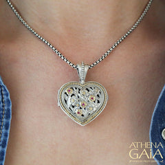 The Garden Shadows Large Heart Locket