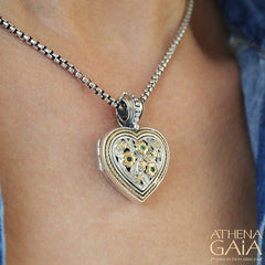 The Garden Shadows Heart Locket