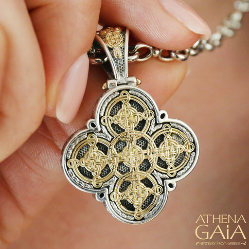Gaelic Celtic Filigree Faith Cross