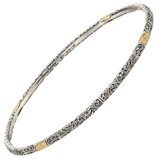 Meadow Breeze Gold Accent Thin Bangle Bracelet