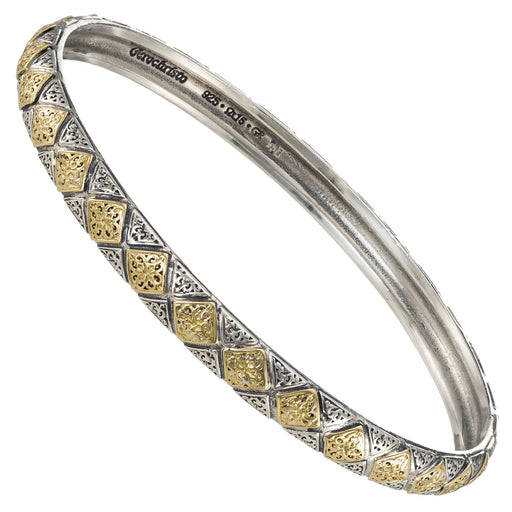 Garden Gates Thin Checker Bangle Bracelet