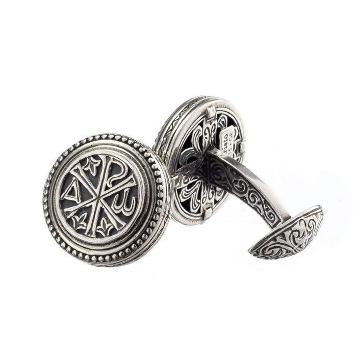 Chi Rho Sterling Silver CuffLinks