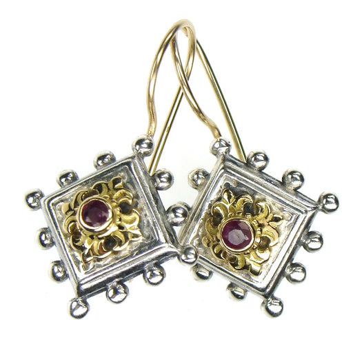 Tetra Fleur Ruby Earrings