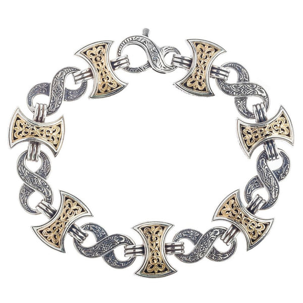 Infinity Axeheads Link Bracelet