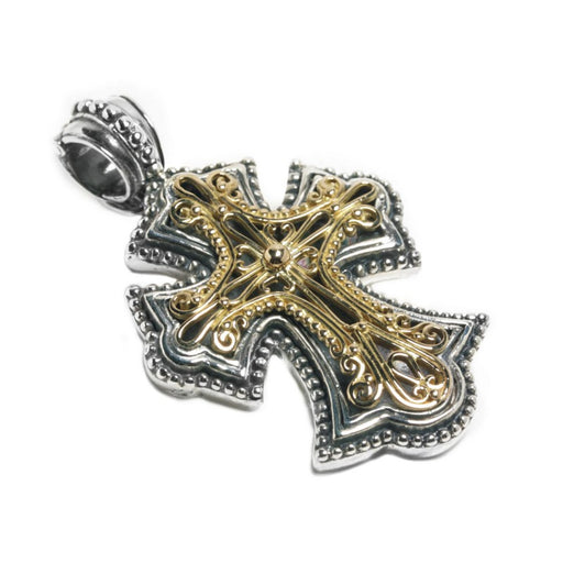 Open Filigree Flared Western Cross
