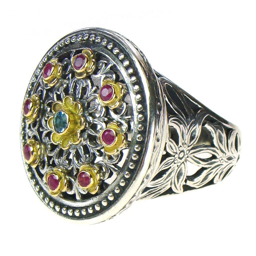 Filigree Flower Circle Ring